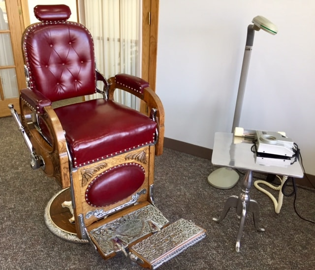 custom shade barber chair